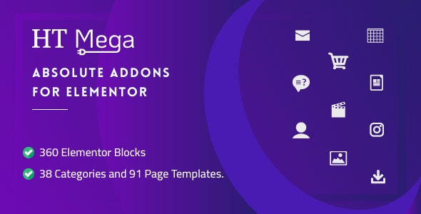 Download HT Mega Pro v1.2.7 - Absolute Addons for Elementor Page Builder Free / Nulled
