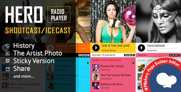 Download Hero v2.3 - Shoutcast and Icecast Radio Player for WPBakery Page Builder Free / Nulled