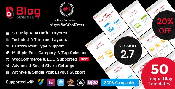 Download Blog Designer PRO for WordPress v2.7.1 - WP Plugin Free / Nulled