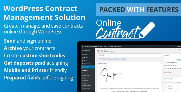 Download WP Online Contract v5.0.1 - WordPress Plugin Free / Nulled