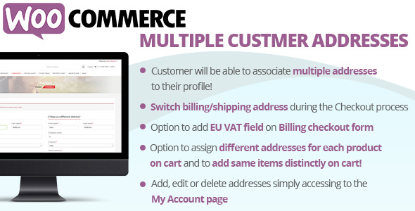 Download WooCommerce Multiple Customer Addresses v17.5 - WooCommerce plugin Free / Nulled