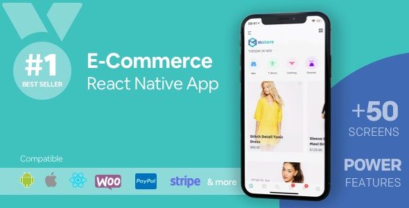 Download MStore Pro v3.9.8 - Complete React Native template for e-commerce Free / Nulled