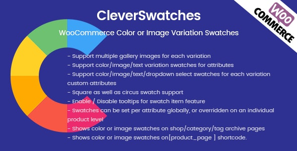 Download CleverSwatches v2.1.9 - WooCommerce Color or Image Variation Swatches Free / Nulled