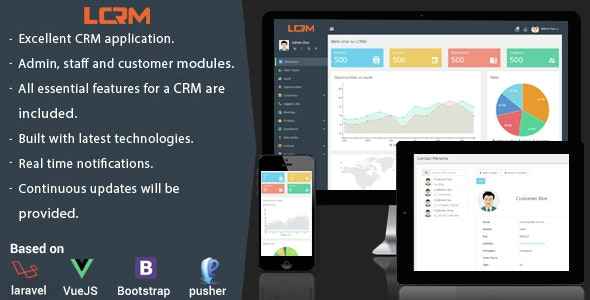 Download LCRM v2.3 - Next generation CRM web application Free / Nulled