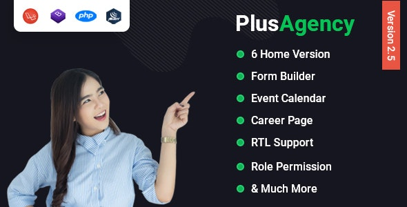 Download PlusAgency v2.5 - Multipurpose Website CMS & Business Agency Management System - nulled Free / Nulled