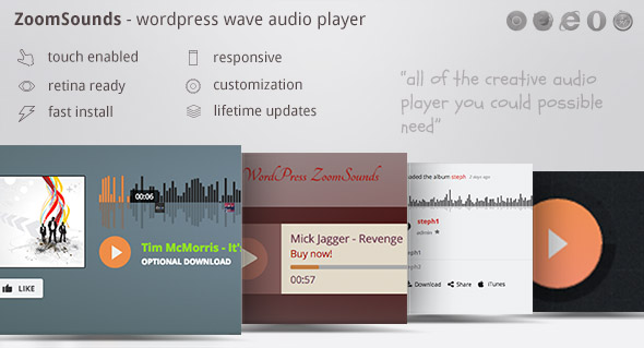 Download ZoomSounds v5.82 - WordPress Audio Player Free / Nulled