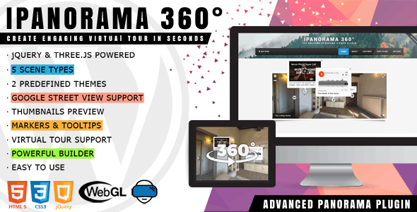 Download iPanorama 360°  v1.5.19 - Virtual Tour Builder for WordPress Free / Nulled