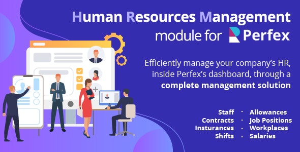 Download Human Resources Management v1.0 - HR module for Perfex CRM Free / Nulled