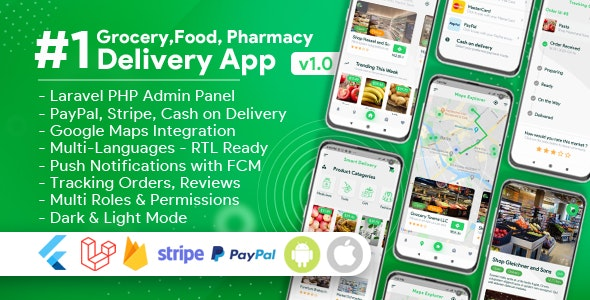 Download Grocery, Food, Pharmacy, Store Delivery Mobile App with Admin Panel v1.1 - Nulled Free / Nulled