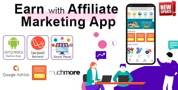 Download Affiliate Marketing app with PHP Backend v1.3 - Mobile App Free / Nulled