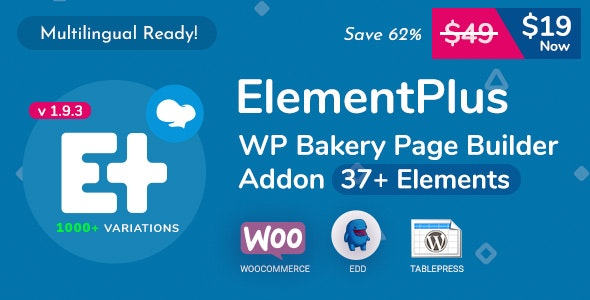 Download Element Plus v1.9.3 - WPBakery Page Builder Addon Free / Nulled