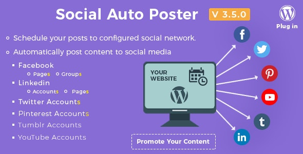 Download Social Auto Poster v3.5.0 - WordPress Plugin Free / Nulled