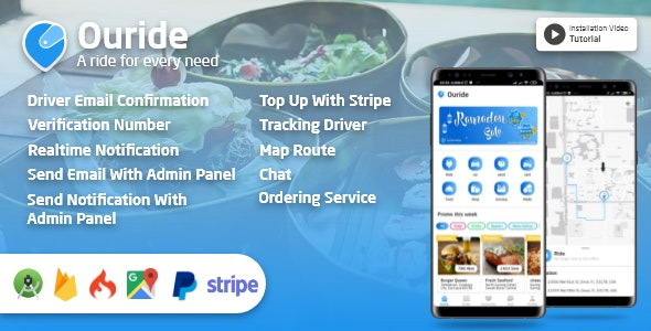 Download Ouride v2.0.0 - Transportation App With Customer App, Driver App, Merchant App and Admin Panel Free / Nulled