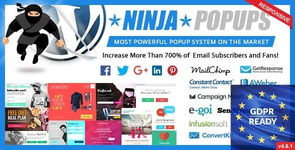 Download Ninja Popups for WordPress v4.6.5 - WP Plugin Free / Nulled