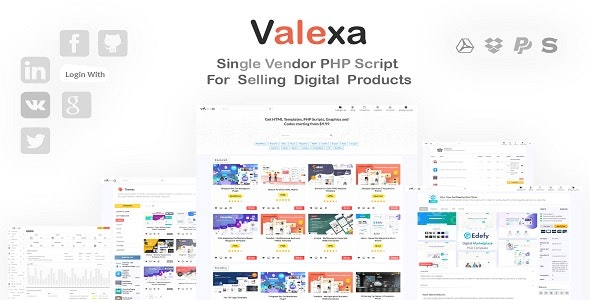 Download Valexa  v1.2.1 - PHP Script For Selling Digital Products And Digital Downloads Free / Nulled