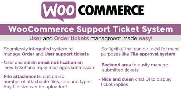 Download WooCommerce Support Ticket System v1.2.6 - WooCommerce plugin Free / Nulled