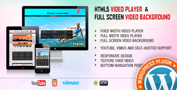 Download Video Player & FullScreen Video Background v1.9.3 - WP Plugin Free / Nulled