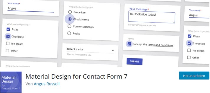 Download Material Design for Contact Form 7 PRO v2.6.1 - WP Plugin Free / Nulled