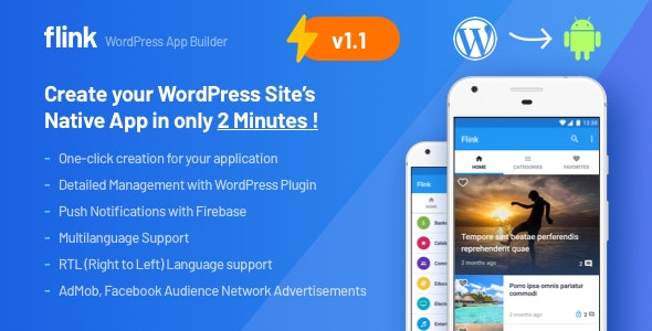 Download Flink v1.1.5 - WordPress App Builder (Auto WordPress to Native Android App) + Ultimate Admin Panel Free / Nulled