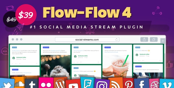 Download Flow-Flow v4.1.32 - WordPress Social Stream Plugin Free / Nulled