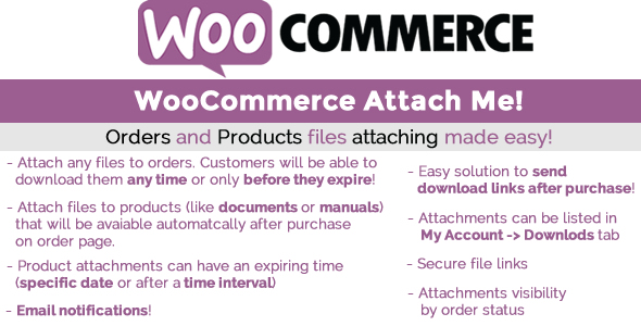 Download WooCommerce Attach Me!  v1.81 - WooCommerce plugin Free / Nulled