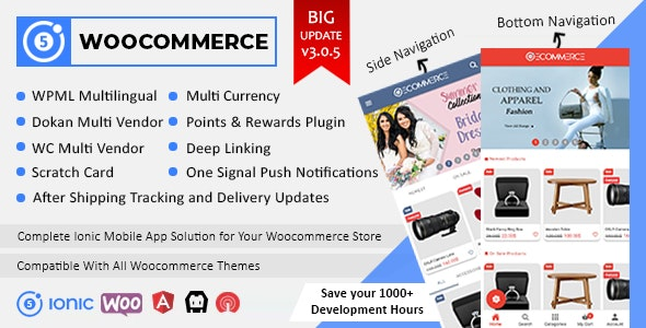 Download Ionic5 Woocommerce v3.0.6 - Ionic5/Angular8 Universal Full Mobile App for iOS & Android / Wordpress Plugins - nulled Free / Nulled