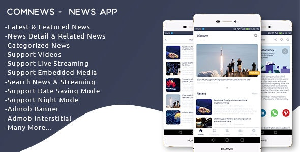 Download ComNews v1.0 - Android News App with Admin Panel Free / Nulled