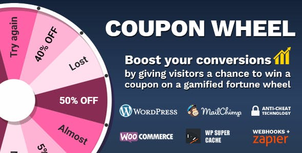 Download Coupon Wheel For WooCommerce and WordPress v3.3.0 - WooCommerce plugin Free / Nulled