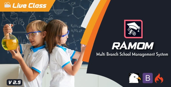 Download Ramom v2.5 - Multi Branch School Management System - nulled Free / Nulled