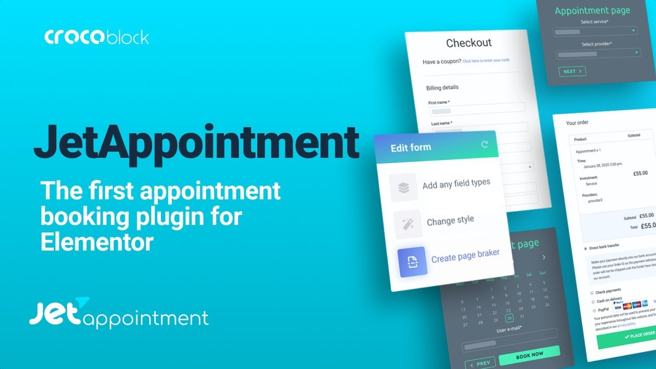 Download JetAppointment v1.1.1 - Appointment plugin for Elementor Free / Nulled