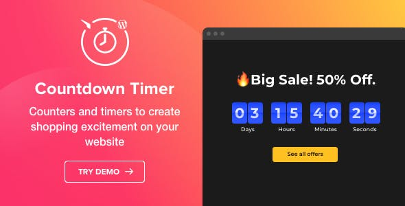 Download Countdown Timer v1.3.0 - WordPress Countdown Timer plugin Free / Nulled