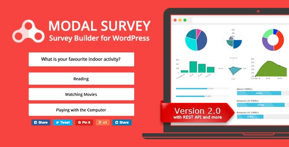 Download Modal Survey v2.0.1.3 - Poll, Survey & Quiz Plugin Free / Nulled