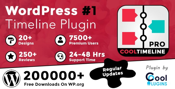 Download Cool Timeline Pro v3.4.4 - WordPress Timeline Plugin Free / Nulled