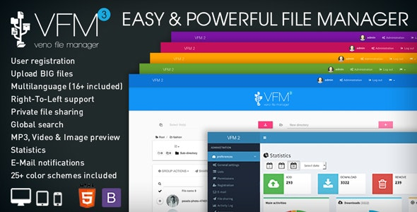 Download Veno File Manager v3.6.1 - host and share files Free / Nulled