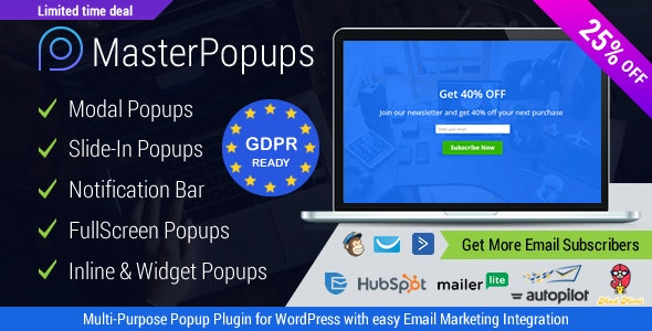 Download Master Popups  v3.4.4 - Popup Plugin for Lead Generation Free / Nulled