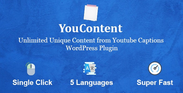 Download YouContent v1.0 - Unlimited Unique Content Generator from Youtube Captions Free / Nulled