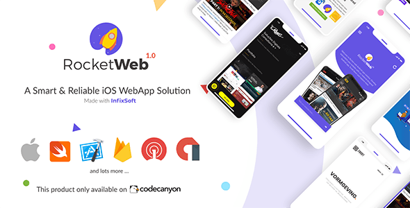 Download RocketWeb v1.0.3 - Configurable iOS WebView App Template Free / Nulled