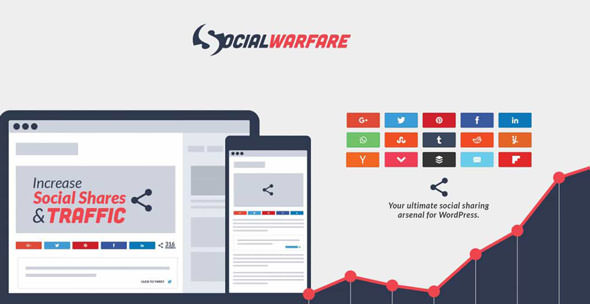 Download Social Warfare Pro v4.0.1 - Best Social Sharing for Wordpress Free / Nulled