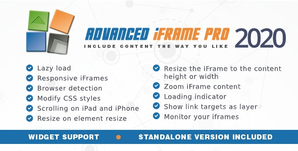 Download Advanced iFrame Pro v2020.4 - WP Plugin Free / Nulled