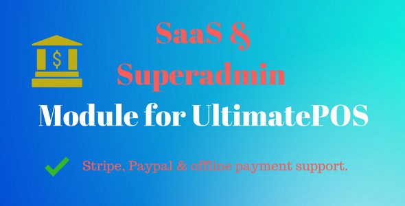 Download SaaS & Superadmin Module for UltimatePOS v2.2 - Nulled Free / Nulled
