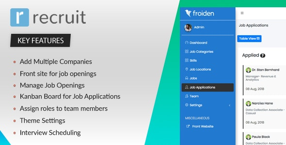Download Recruit v2.2.3 - Recruitment Manager - nulled Free / Nulled