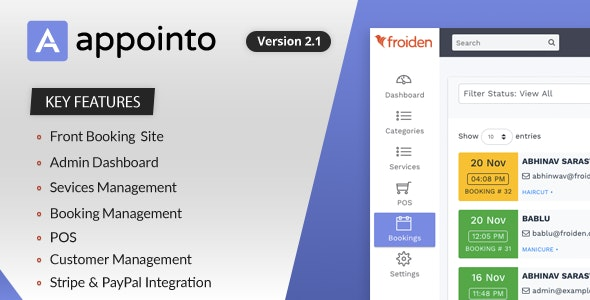 Download Appointo v2.2.3 - Booking Management System - nulled Free / Nulled