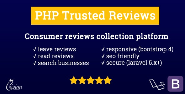 Download PHP Trusted Reviews v1.0.7 - Nulled Free / Nulled