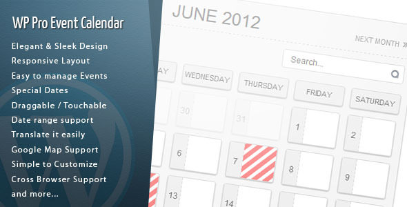 Download WordPress Pro Event Calendar v3.1.8 - WP Plugin Free / Nulled