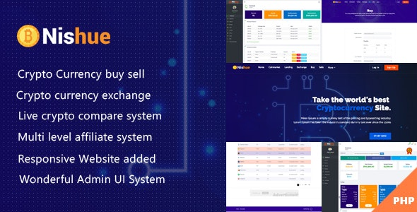 Download Nishue v3.8 - CryptoCurrency Buy Sell Exchange and Lending with MLM System - nulled Free / Nulled