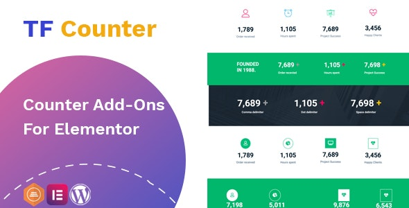 Download TfCounter v1.0.1 - Counter widget For Elementor Free / Nulled