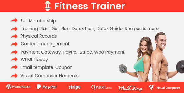 Download Fitness Trainer v1.4.6 - Training Membership Plugin Free / Nulled