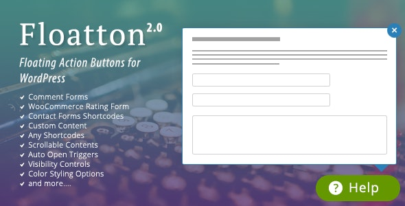 Download Floatton v2.0 - WordPress Floating Action Button with Pop-up Contents for Forms or any Custom Contents Free / Nulled