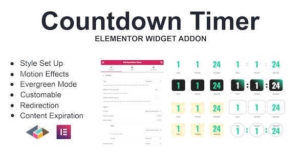 Download Countdown Timer  v1.0.0 - Elementor Page Builder Addon Free / Nulled
