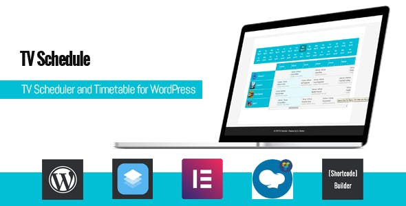 Download TV Schedule and Timetable for WordPress  v1.1 - WP Plugin Free / Nulled